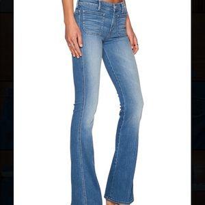 Mother the patch slacker wide leg jeans sz 31